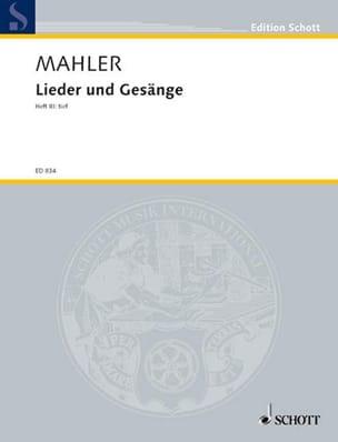 Lieder Und Gesänge Voume 3. Voix Grave - MAHLER - laflutedepan.com