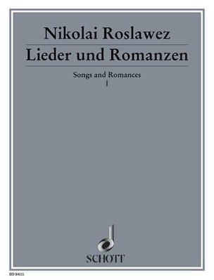 Lieder und Romanzen, Bd 1 - Nikolaj A. Roslawez - laflutedepan.com