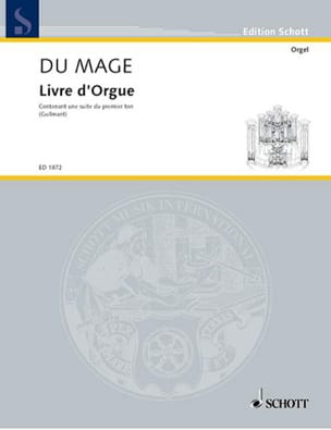 Pierre du Mage - Livre d'Orgue - Partition - di-arezzo.fr