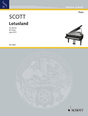 Lotusland, Op. 47-1 Cyril Scott Partition Piano - laflutedepan