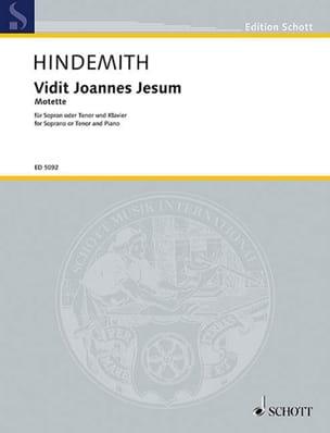 Vidit Joannes Jesum - HINDEMITH - Partition - laflutedepan.com