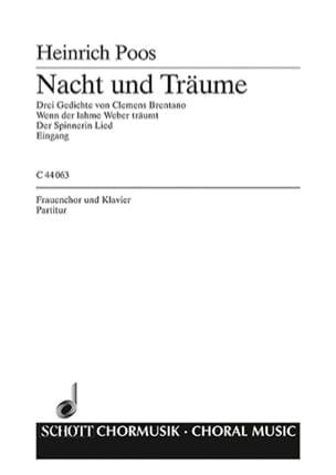 Nacht und Träume - Heinrich Poos - Partition - laflutedepan.com