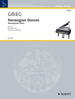 Edward Grieg - Norwegian dances Opus 35. 4 hands - Sheet Music - di-arezzo.com