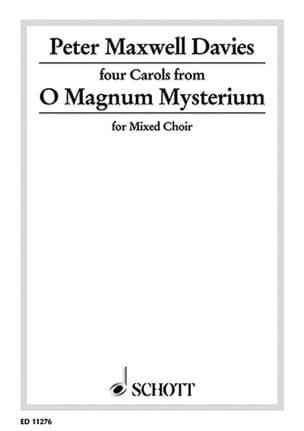Davies Peter (Sir) Maxwell - O Magnum Mysterium - Sheet Music - di-arezzo.co.uk