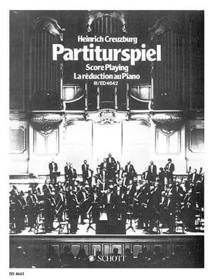Partiturspiel, Bd 3 - Heinrich Creuzburg - laflutedepan.com