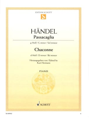 HAENDEL - Passacaglia in minor SOL and Chaconne D minor - Partition - di-arezzo.co.uk