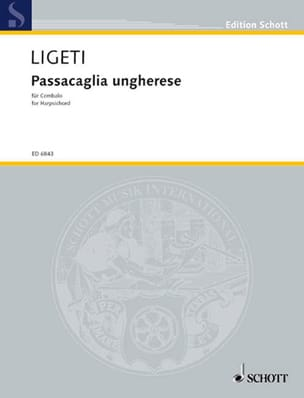 Passacaglia ungherese 1978 LIGETI Partition Clavecin - laflutedepan