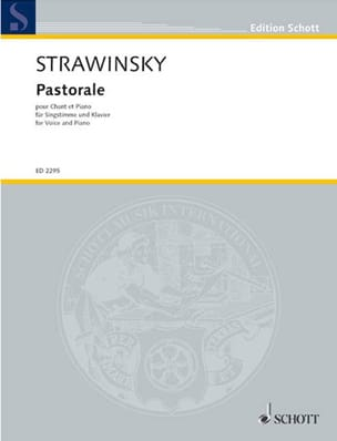 Igor Stravinski - Pastorale - Partition - di-arezzo.fr