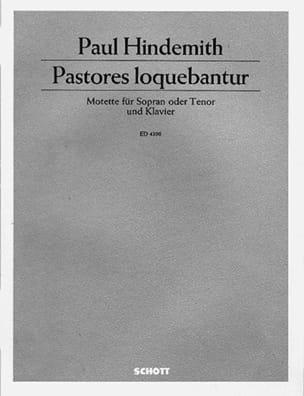 Pastores Loquebantur - Paul Hindemith - Partition - laflutedepan.com