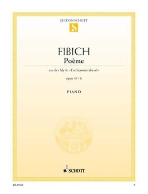 Poème Op. 41-6 Zdenek Fibich Partition Piano - laflutedepan