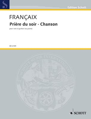 Jean Françaix - Evening Prayer and Song - Sheet Music - di-arezzo.com