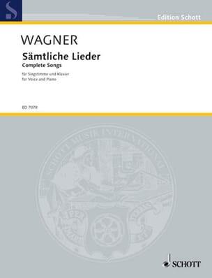 Sämtliche Lieder - WAGNER - Partition - Mélodies - laflutedepan.com