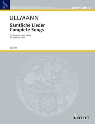 Viktor Ullmann - Sämtliche Lieder - Partition - di-arezzo.fr