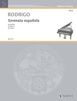 Joaquin Rodrigo - Serenata española 1931 - Partition - di-arezzo.fr