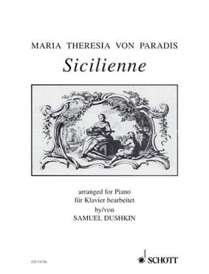 Sicilienne - Maria-Theresia von Paradis - Partition - laflutedepan.com