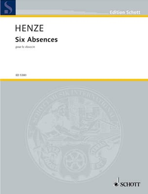 Hans Werner Henze - 6 Absences - Partition - di-arezzo.fr