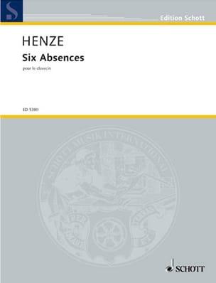 6 Absences - Hans Werner Henze - Partition - laflutedepan.com