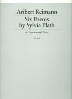 6 Poems 1975 - Aribert Reimann - Partition - laflutedepan.com