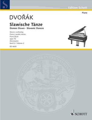 Danses Slaves 4 Mains Opus 72 Volume 2 - DVORAK - laflutedepan.com