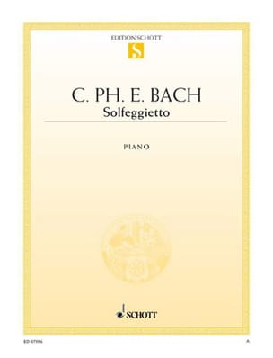 Solfeggietto Carl-Philipp Emanuel Bach Partition Piano - laflutedepan
