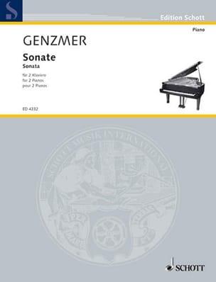 Sonate 2 Pianos - Harald Genzmer - Partition - laflutedepan.com