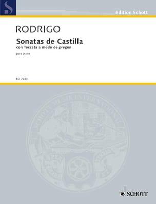 Sonatas de Castilla 1950/51 RODRIGO Partition Piano - laflutedepan