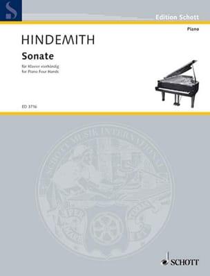 Sonate (1938). 4 Mains - Paul Hindemith - Partition - laflutedepan.com