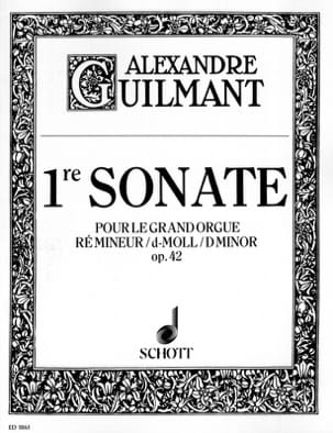 Alexandre Guilmant - Sonata No. 1 D Minor Opus 42 - Sheet Music - di-arezzo.com