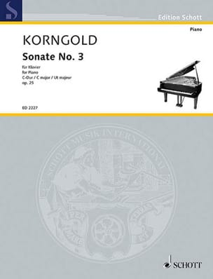 Sonate N°3 Op. 25 KORNGOLD Partition Piano - laflutedepan