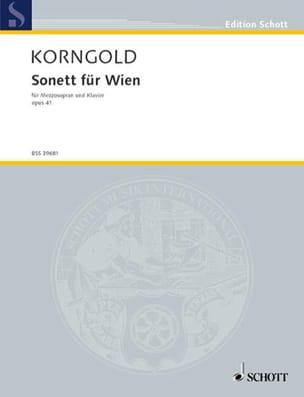 Sonett Für Wien Op. 41 - KORNGOLD - Partition - laflutedepan.com