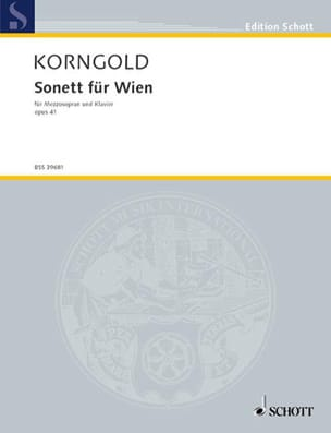 KORNGOLD - Sonett Für Wien Op. 41 - Sheet Music - di-arezzo.co.uk