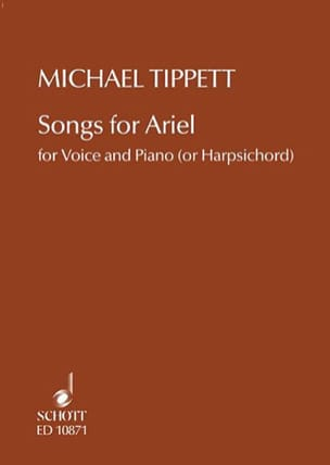 Songs for Ariel Michael Tippett Partition Mélodies - laflutedepan
