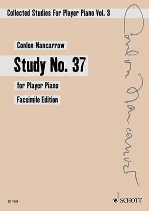 Study N° 37 - Colon Nancarrow - Partition - Piano - laflutedepan.com