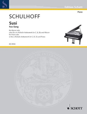 Susi Erwin Schulhoff Partition Piano - laflutedepan