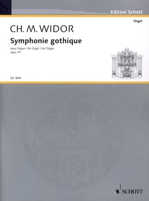 Symphonie Gothique Opus 70 WIDOR Partition Orgue - laflutedepan