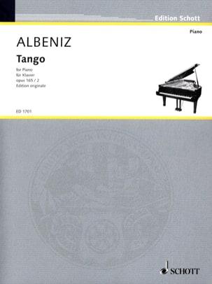 Tango, Opus 165-2 Ré Majeur - ALBENIZ - Partition - laflutedepan.com