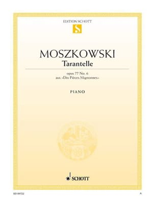 Tarentelle Opus 77-6 Moritz Moszkowski Partition Piano - laflutedepan