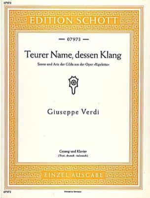 VERDI - Teurer Name, Dessen Klang. Rigoletto - Partition - di-arezzo.co.uk