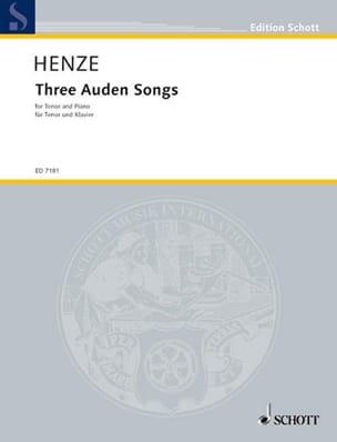 3 Auden Songs (Ténor) - Hans W Henze - Partition - laflutedepan.com
