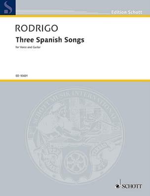 3 Spanish Songs 1951 Joaquin Rodrigo Partition Guitare - laflutedepan
