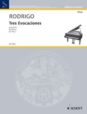 3 Evocaciones 1981 RODRIGO Partition Piano - laflutedepan