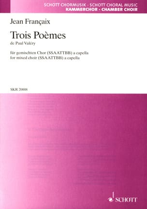 Jean Françaix - 3 Poems of Paul Valéry - Sheet Music - di-arezzo.co.uk