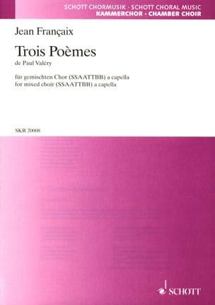 Jean Françaix - 3 Poèmes de Paul Valéry - Partition - di-arezzo.fr