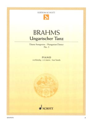 BRAHMS - Hungarian Dance No. 5. 4 Hands - Sheet Music - di-arezzo.co.uk