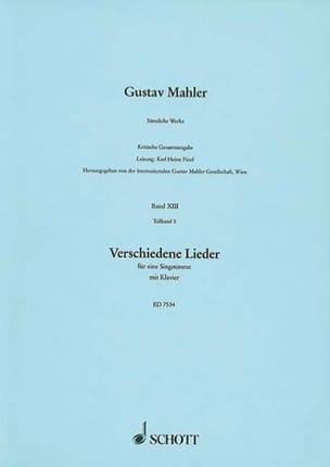 Verschiedene Lieder Volume 5 - Gustav Mahler - laflutedepan.com