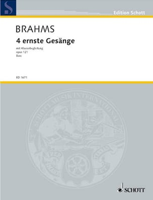 4 Ernste Gesänge, Opus 121. Voix Grave - laflutedepan.com