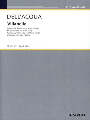 Acqua Eva Dell' - Villanelle. - Partition - di-arezzo.fr