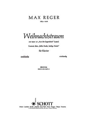 Weihnachtstraum, Op. 17-9 - Max Reger - Partition - laflutedepan.com