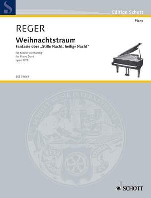 Weihnachtstraum, Op. 17-9. 4 Mains - Max Reger - laflutedepan.com