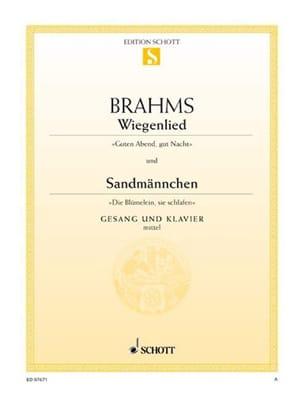 Berceuse (Wiegenlied) Opus 49-4 - Sandmännchen Opus 49-1. Voix moyenne laflutedepan